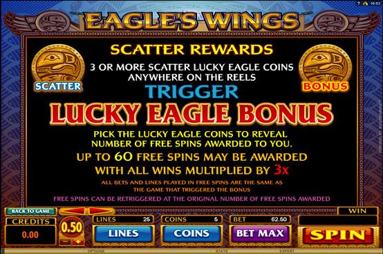 eagles wings scatte -bonus
